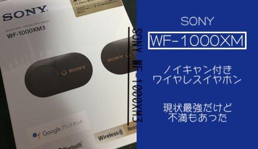 【イヤホン】SONYのWF-1000XM3を徹底レビュー!大満足ではないけど割りと良い
