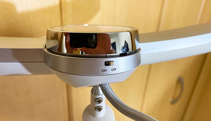 BenQ MindDuoの人感センサーはON・OFF切り替えられる